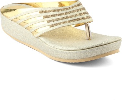 Womens Club Women Gold Flats