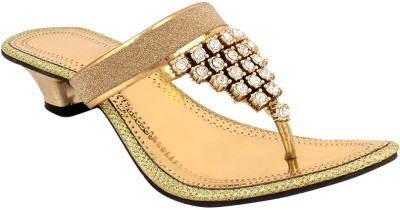 Fashion Victory Women Gold Heels