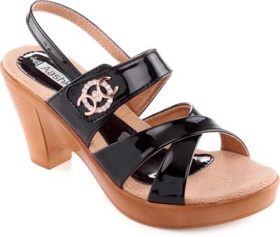 Aashka Women Black Heels