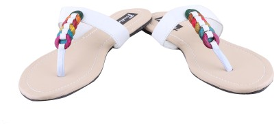 Footings Women White Flats