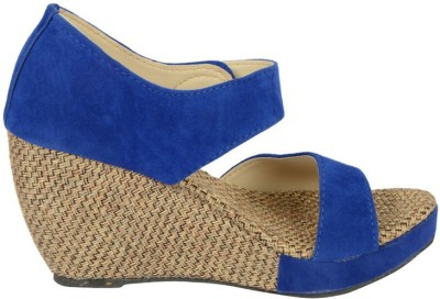 belly ballot Women Blue Wedges