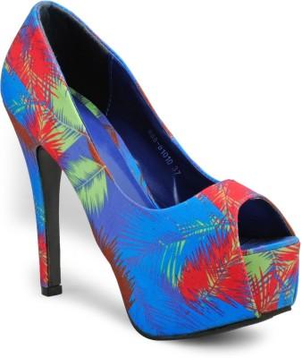Aqua Women Blue Heels