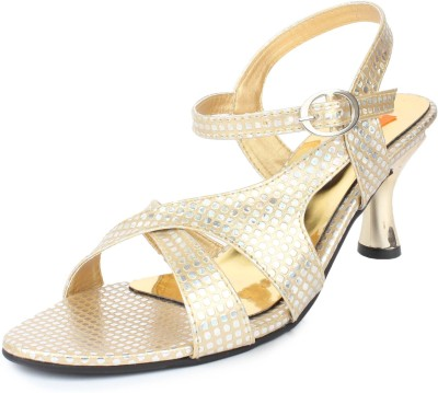 Cara Mia Women Gold Heels