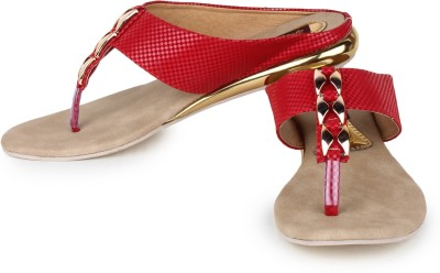 Star Style Women Red Flats