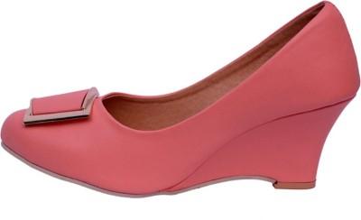 Secret Closet Women Pink Wedges