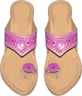 Traditional Kolhapuri Women Pink Heels