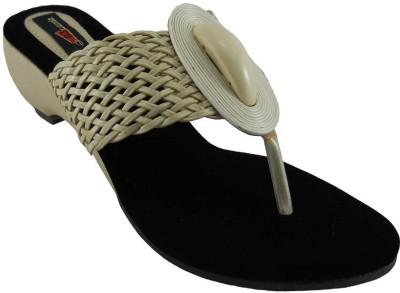 B3trendz Women Black, Beige Heels