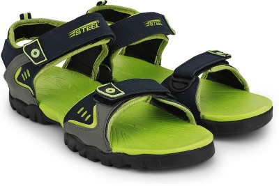 Steel Men Green, Blue Sandals