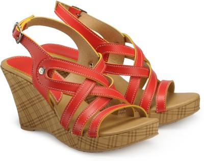 Nell Women Red Wedges