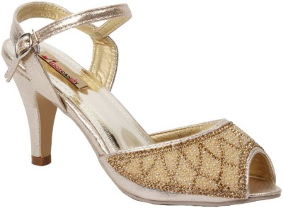 Foot Candy Women Gold Heels