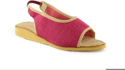 Kakolikrishti Girls Pink Sandals