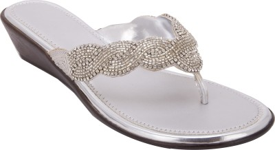 Trotters Women Silver Wedges