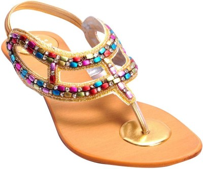 Ajanta Women Gold Flats