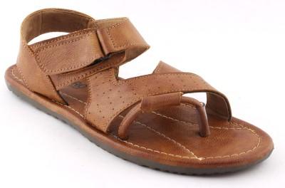 VEBERO Men Tan Sandals