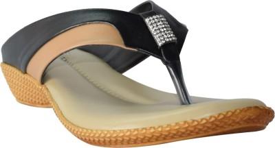 Marc Royal Women Black, Tan Flats