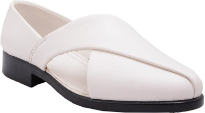 Samadhaan Men White Sandals