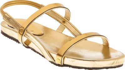 Elan Girls Gold Flats