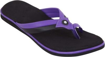 Walkaway Women Purple, Black Flats