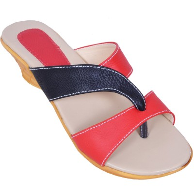 Laila Collection Women Red Wedges