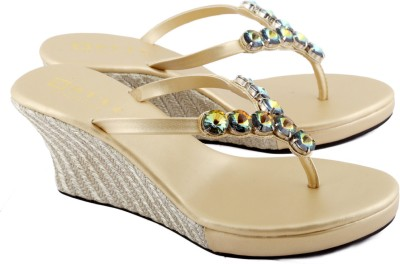 Zotti Elica Women Gold Wedges