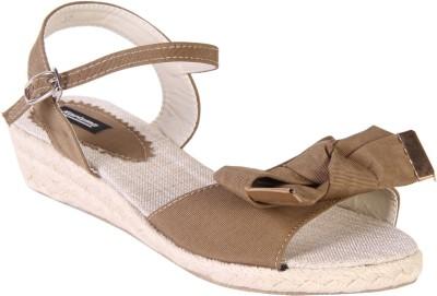 karizma shoes Women Khaki Wedges