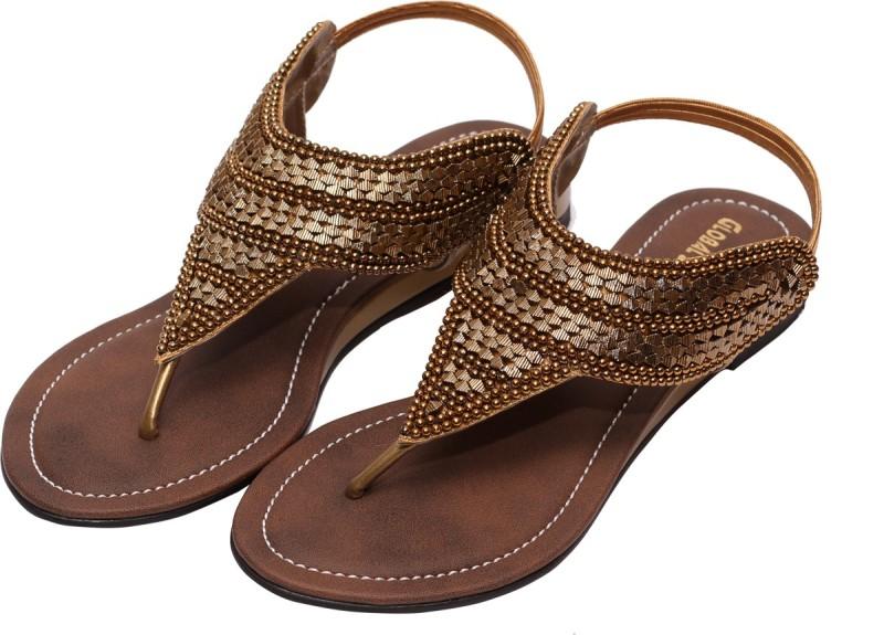 Global Step Women Brown Flats