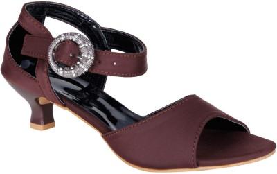 Lovely Chick Women Brown Heels