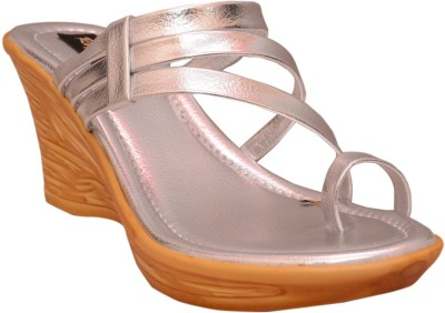 Royalshe Women Silver Wedges