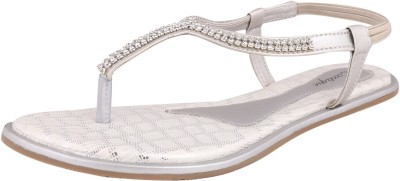 Exotique Women Silver Flats