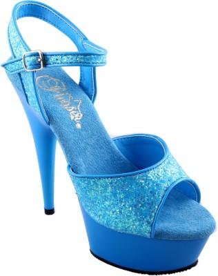 Pleaser Women Blue Heels