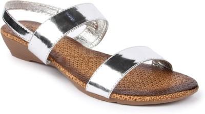 Jove Women Silver Flats