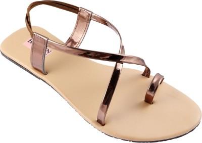 heavenfoot Girls Brown Flats