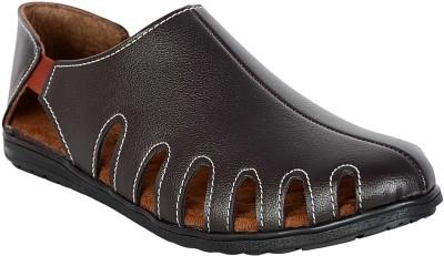 Footoes Men Brown, Black Sandals