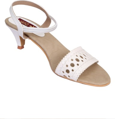 Port Women White Heels