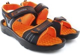 Lotto Men Navy/Orange Sports Sandals