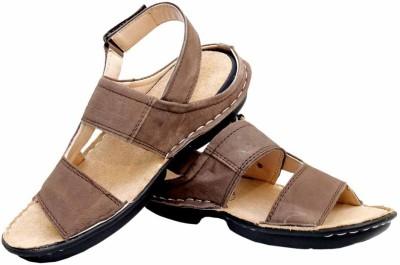 Leather Soft Men Brown Sandals