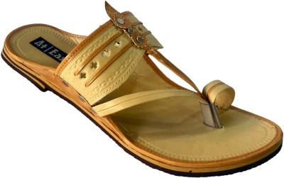 Atease Kolhapuri Men Beige Sandals
