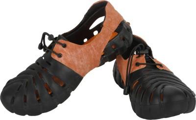 Globalite Parko II N Men Orange, Black Sandals