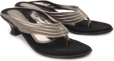 Bonjour Women Grey, Black Heels