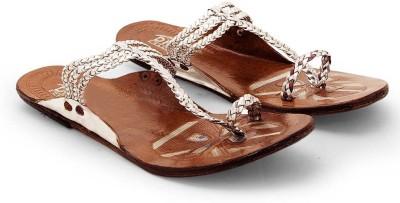 Ethnic Treat Women Silver Flats