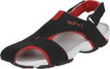 Spinn Men Black/Red Sandals