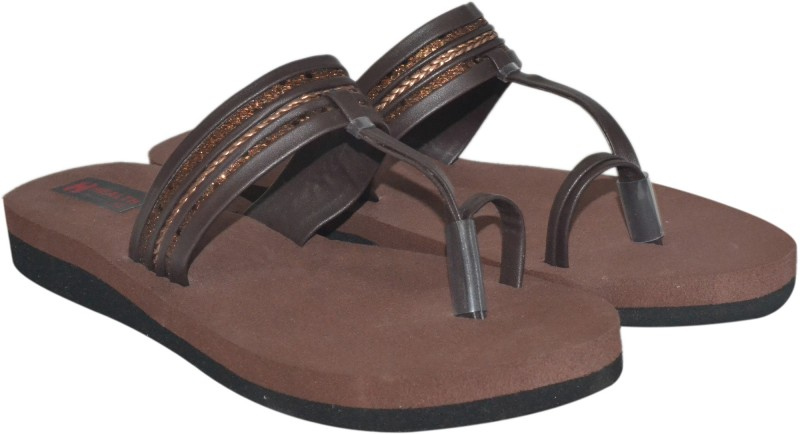 Health Line Women Brown Flats