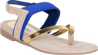 MDR Women Blue Flats