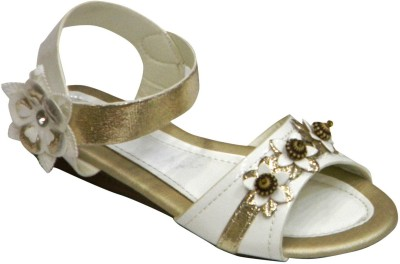 SuperGirl Girls White Sandals