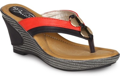 La Briza Women BLACK Wedges at flipkart