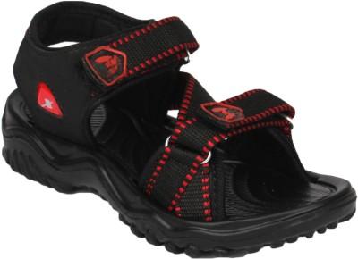11e Boys Black, Red Sandals