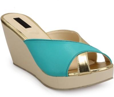 Fashionwalk Women Beige, Blue Wedges