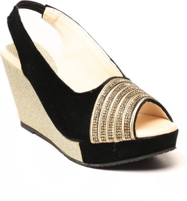 Anand Archies Women Black Wedges