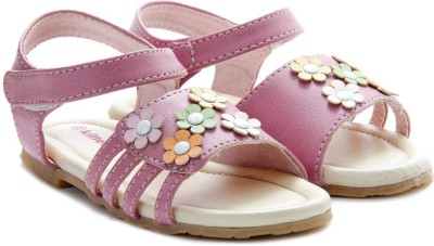 Kittens Girls Pink Sports Sandals