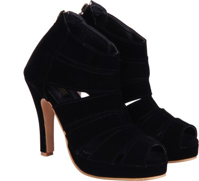 Fashion Mafia Women Black Heels